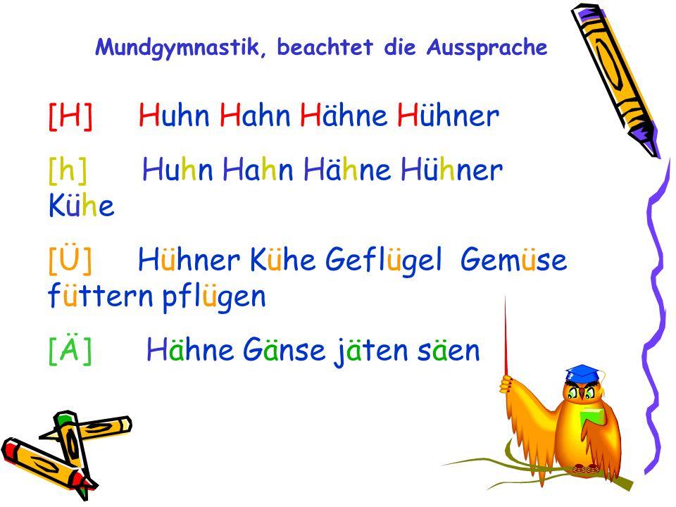 [H] Huhn Hahn Hähne Hühner [h] Huhn Hahn Hähne Hühner Kühe